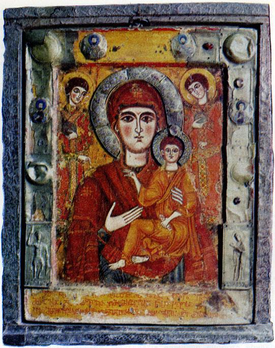 47. Икона Цилканской Богоматери. Энкаустика.  IX в.