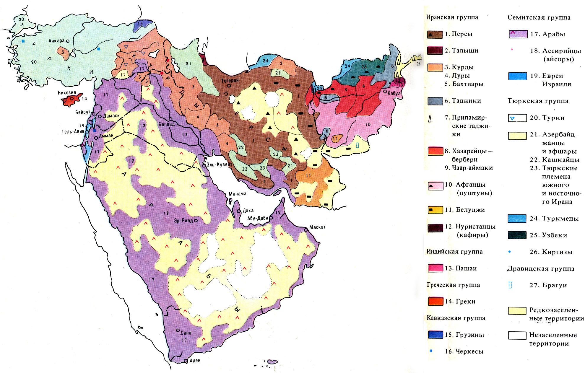 Народы юго западной азии